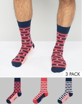 Original Penguin 3 Pack Socks Stripe