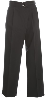 Helmut Lang Wool High Waisted Pants W/ Belt