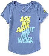 Nike Big Girls 7-16 Ask Me About My Kicks Short-Sleeve Graphic Tee