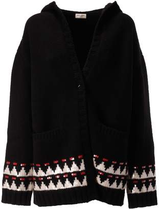 Saint Laurent Hooded Knit Cardigan