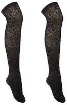 Charlotte Russe Textured Knee-High Socks