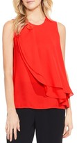 Vince Camuto Petite Women's Double Layer Front Blouse