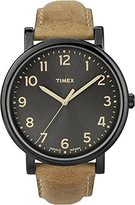 Timex Men's Originals T2N677 Brown Leather Leather Quartz Watch