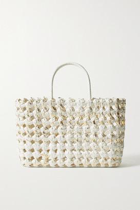 Nancy Gonzalez Glinda Metallic Woven Python Tote - White