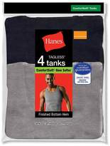 Hanes Mens Dyed Tank 4 Pack