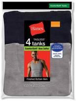 Hanes TAGLESS Men`s Ribbed A-Shirt, 392P4, M