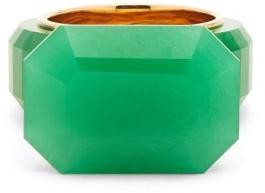 Bottega Veneta Faceted Jade Gold-plated Ring - Green