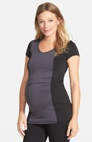 Maternal America Women's Colorblock Maternity Top