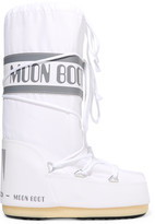 Moon Boot Shell-piqué And Faux Leather Snow Boots - White