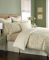 Martha Stewart Wildwood Standard Pillow Sham Tan / Cream