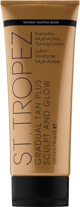 St. Tropez Tanning Essentials Gradual Tan Plus Sculpt and Glow Everyday Multi-Active Toning Lotion