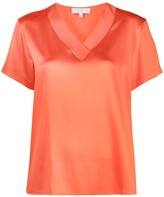 Thumbnail for your product : Antonelli silk V-neck T-shirt