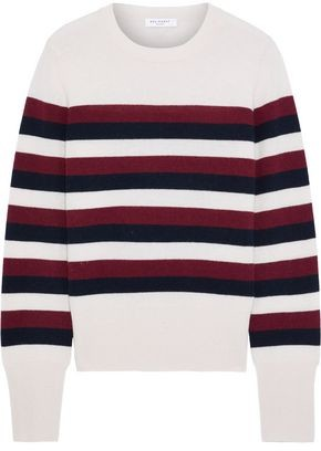 Equipment Cielle Striped Wool And Cashmere-blend Sweater