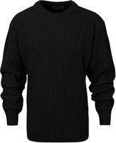 ililily Men Crew Neck Ribbed Knit Solid Color Sweater Casual Pullover Jumper