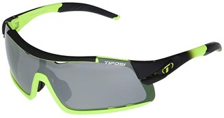 Tifosi Optics Davos (Race Neon Frame Smoke/AC Red/Clear Lenses) Athletic Performance Sport Sunglasses