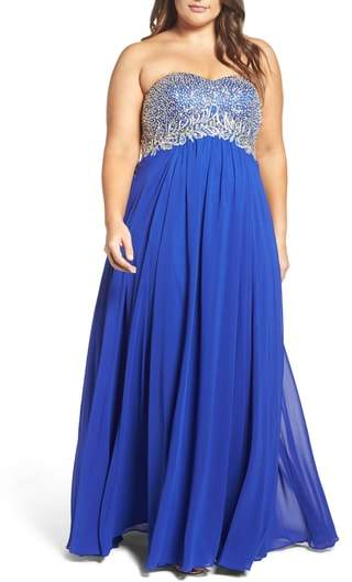 Decode 1.8 Embellished Strapless Gown