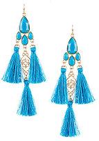 Natasha Accessories Natasha Tiered Tassel Drop Statement Earrings