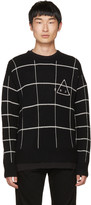 McQ by Alexander McQueen Black end Grid Sweater