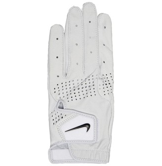 Nike Womens Tour Classic III Left Hand Golf Glove Pearl White/Pearl White/Black
