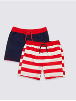 Marks and Spencer 2 Pack Swim Shorts (0-14 Years)