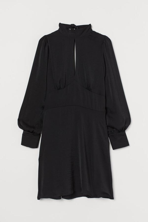 H&M Open-backed Dress - Black