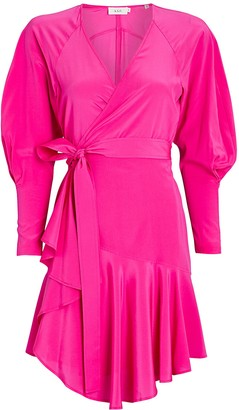 A.L.C. Enzo Silk Wrap Mini Dress