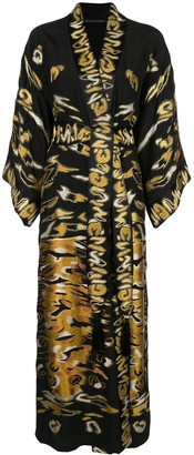 Josie Natori Couture Embroidered Robe