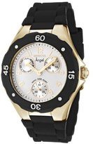 Invicta Women's 0717 Angel Collection Gold-Plated Black Polyurethane Watch