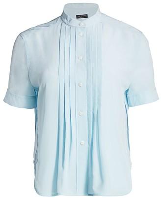 Rag & Bone Sarah Silk Pleated Shirt