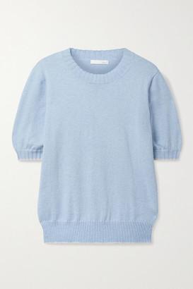 Skin Mirren Cotton And Cashmere-blend Sweater - Light blue