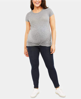 Motherhood Maternity Plus Size Babydoll Blouse