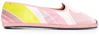 Emilio Pucci velvet Quirimbas print slippers