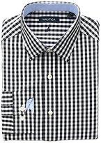 Nautica Men's Herringbone Gingham Spread Collar Dress Shirt
