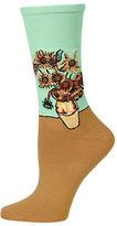 Hot Sox Sunflowers Crew Socks