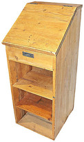 One Kings Lane Vintage Antique Danish Pine Lectern Stand - House of Charm Antiques