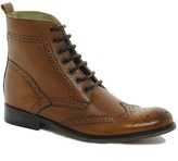 Asos Brogue Boots With Leather Sole