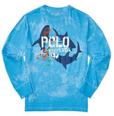 Ralph Lauren Boys 8-20 Cotton Jersey Long Sleeve Shark Tee