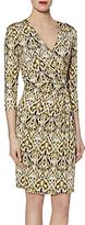 Gina Bacconi Abstract Print Jersey Dress, Lemon