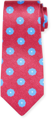 Kiton Men's Symmetric Flower Silk Tie