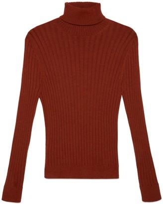 Gucci Rib knit wool alpaca turtleneck