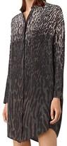 AllSaints Helle Sinai Silk Shirt Dress