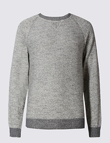 Marks And Spencer Marks And Spencer Cotton Rich Sweat Slub Crew Neck Jumper