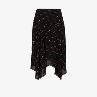 See by Chloe handkerchief-hem fil coupe skirt