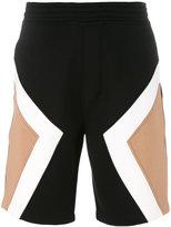Neil Barrett geometric pattern shorts - men - Cotton/Lyocell - XS