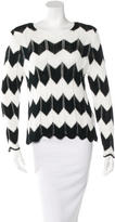 Frame Chevron Scalloped Sweater