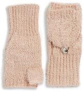 Calvin Klein Fuzzy Knit Fingerless Convertible Mittens