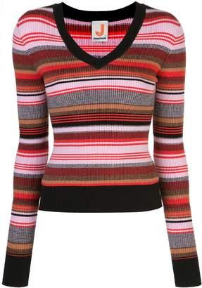 JoosTricot striped ribbed-knit jumper