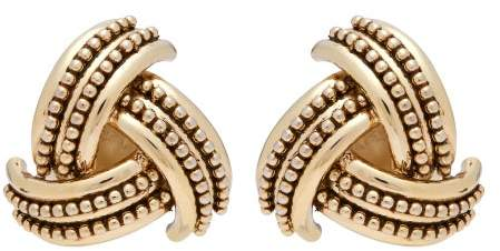 Etro Gold Tone Clip Earrings - Womens - Gold