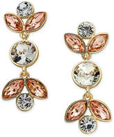 Charter Club Gold-Tone Peach & Clear Crystal Drop Earrings, Only at Macy's