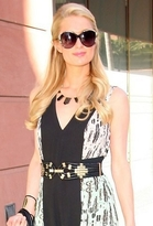 House Of Harlow 14K Gold and Black Resin Stations Necklace as Seen On Paris Hilton